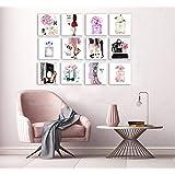 Set de 12 Cuadros Decorativos para recamara Fashion