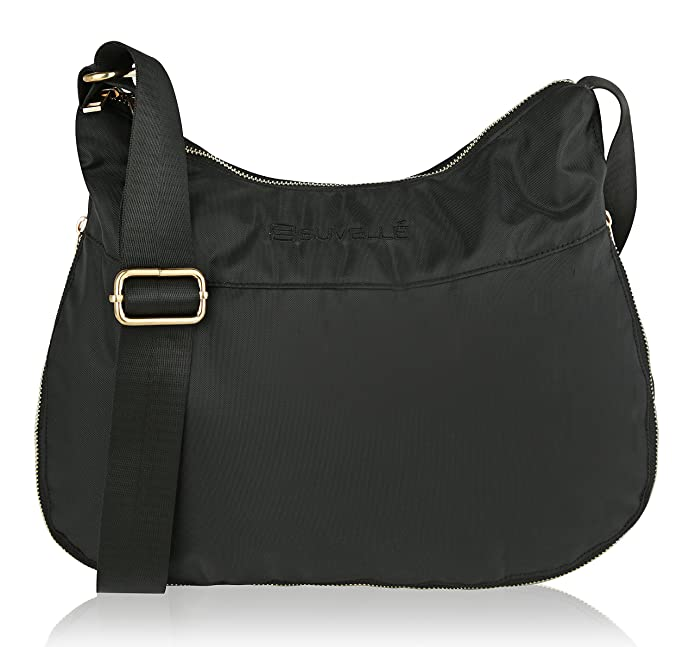 ba67106cb Suvelle Lightweight Hobo Travel RFID Blocking Expandable Crossbody Bag  Multi Pocket Shoulder Handbag BA20: Amazon.co.uk: Shoes & Bags
