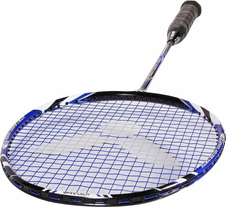 /à lunit/é ou Set de 2 Raquettes et 3 Volants en Nylon Victor V-4000 Wave Tech Raquette de Badminton Bleu ou Rouge