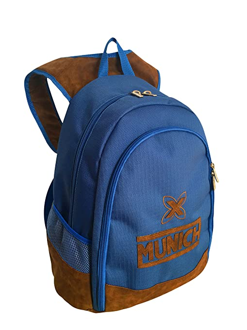 Munich Leather Mochila Tipo Casual, 43 cm, 20 litros, Azul Marino: Amazon.es: Equipaje