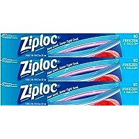 3 Pack Ziploc Freezer Bags, Two Gallon 10 ct