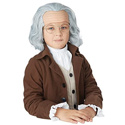 California Costumes Benjamin Franklin Wig Child Costume, Acc: Toys & Games