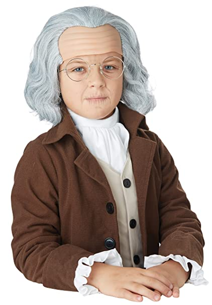Brand New Benjamin Franklin Colonial Adult Costume Wig