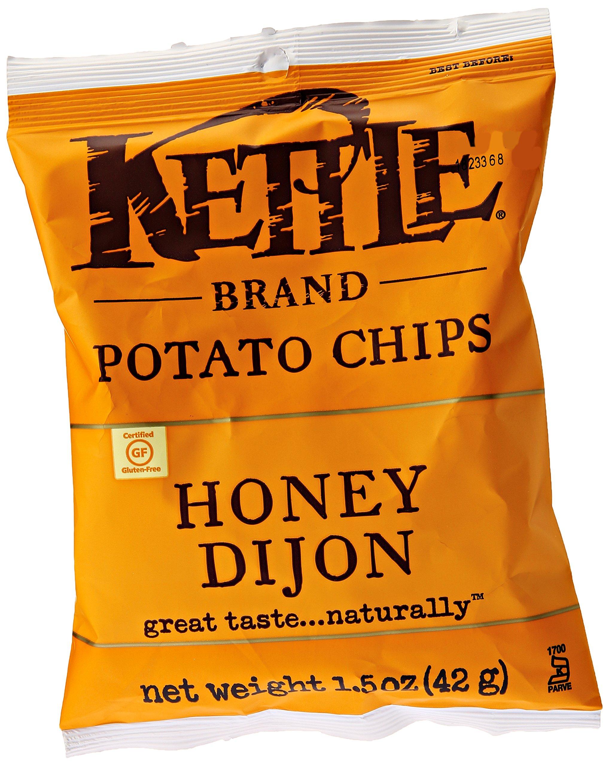 Kettle Foods Potato Chip, Honey Dijon, 1.5 oz