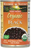 Westbrae Natural Vegetarian Organic Black Beans, 15 Oz