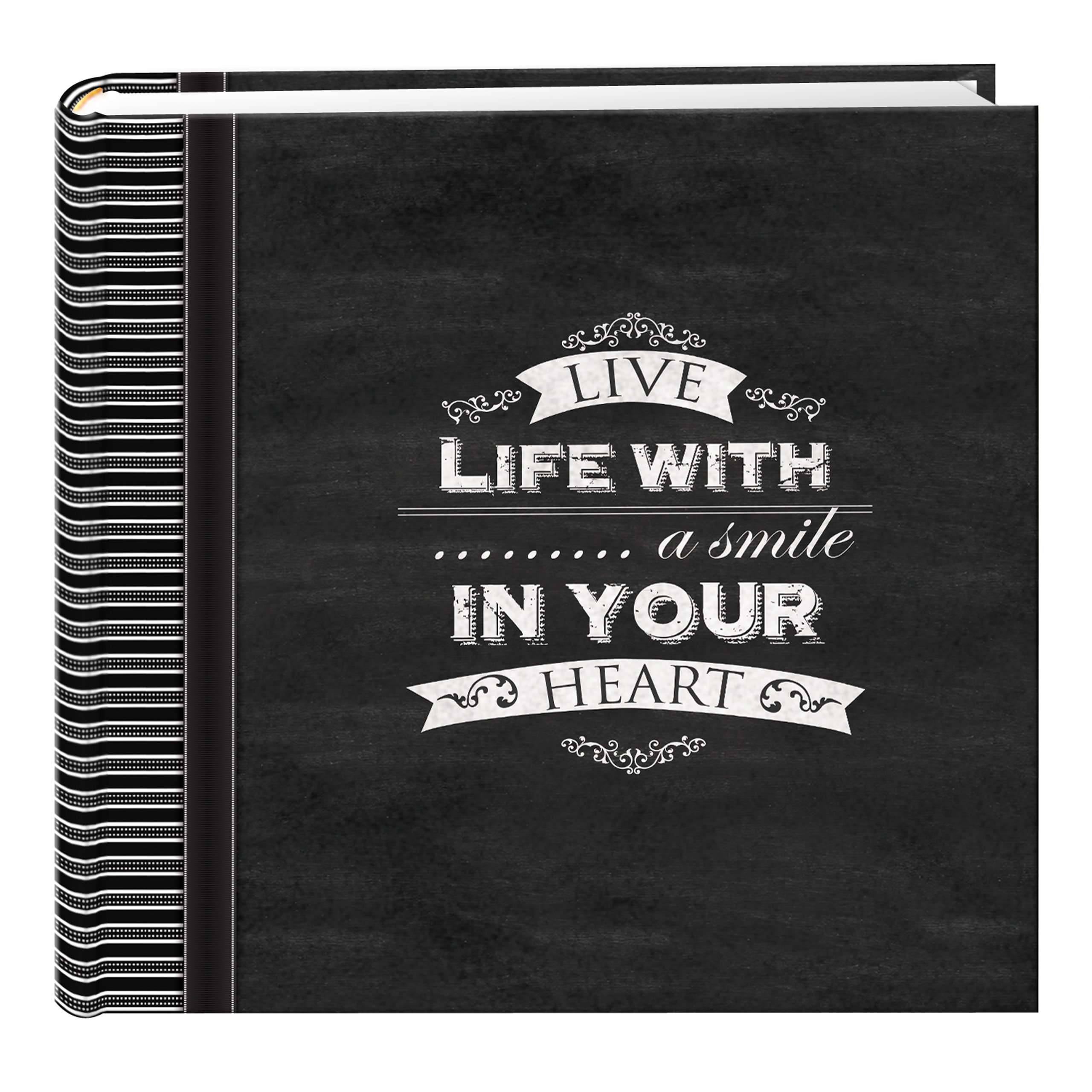 Pioneer Photo Albums EV-246CHLK/SM 200-Pocket Chalkboard Printed Smile Theme Photo Album for 4 by 6-Inch Prints by Pioneer Photo Albums