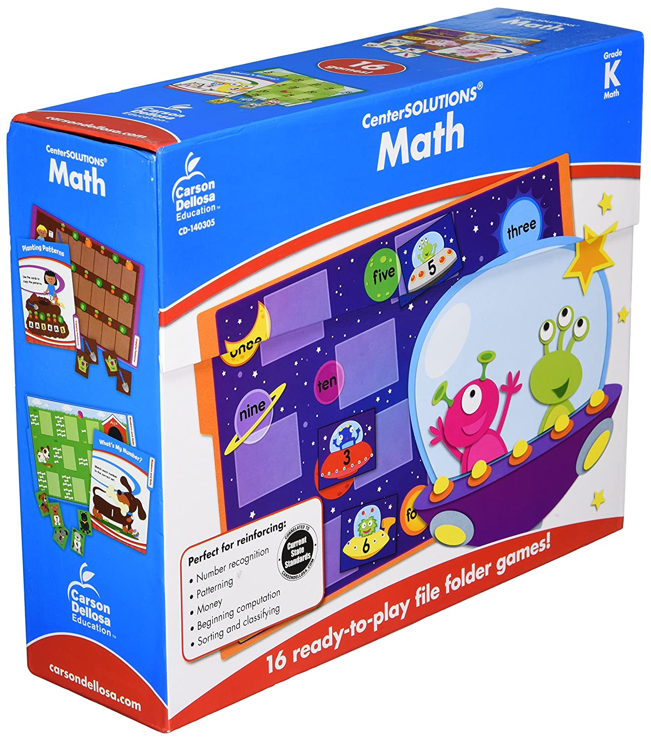 CenterSOLUTIONS Math File Folder Games, Kindergarten, Sold as 1 Each