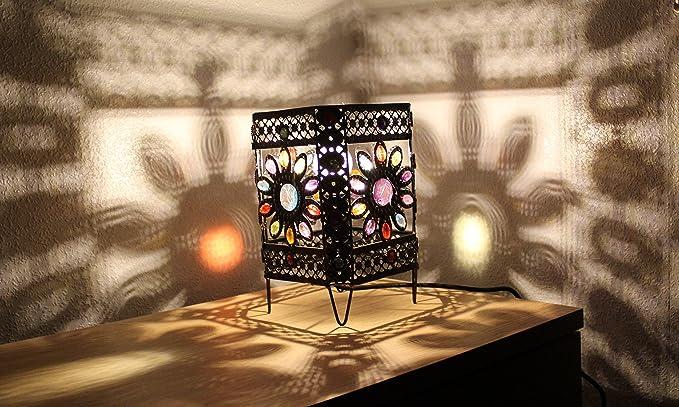 Lampade da tavolo splendide in stile marocchino vintage decorate