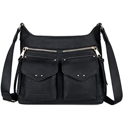 0e3823914073d8 Soyater Vegan Leather Crossbody Purse: Handbags: Amazon.com