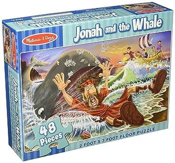 Amazon.com: Melissa & Doug Jonah and the Whale Jumbo Jigsaw Floor ...