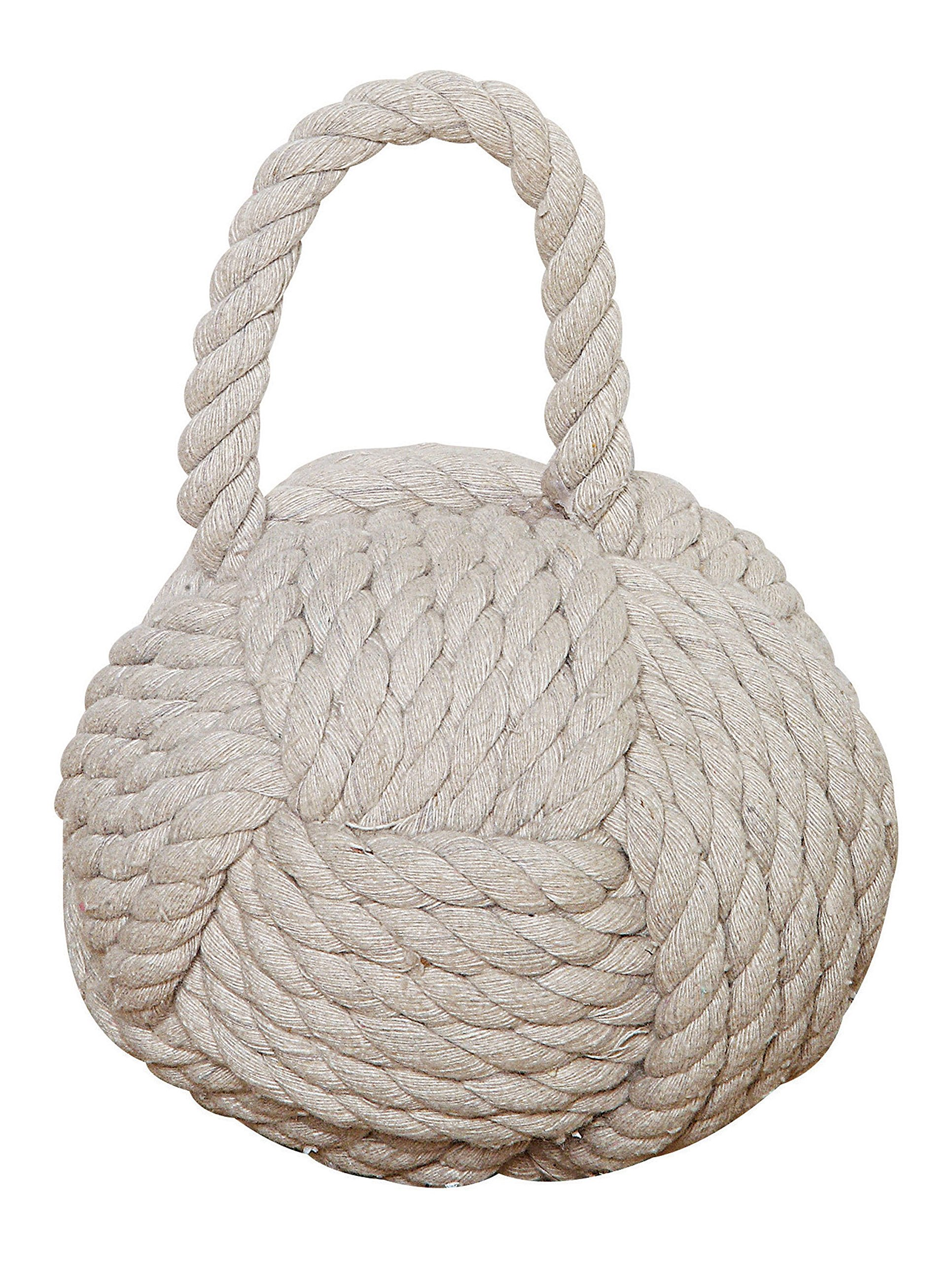 Creative Co-op DE1586 Nautical Rope Knot Door Stop, White by Creative Co-op