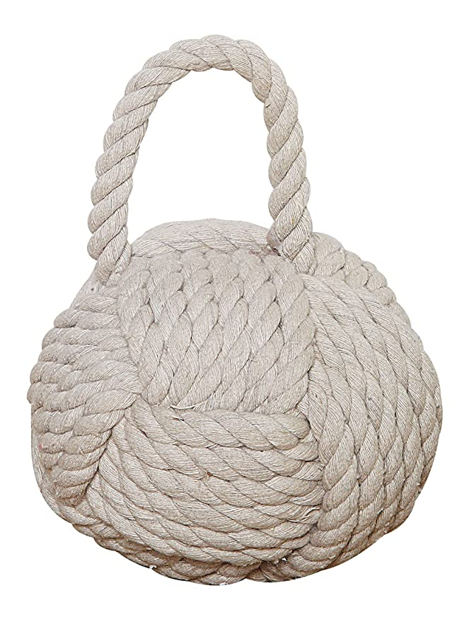 Creative Co-op DE1586 Nautical Rope Knot Door Stop White