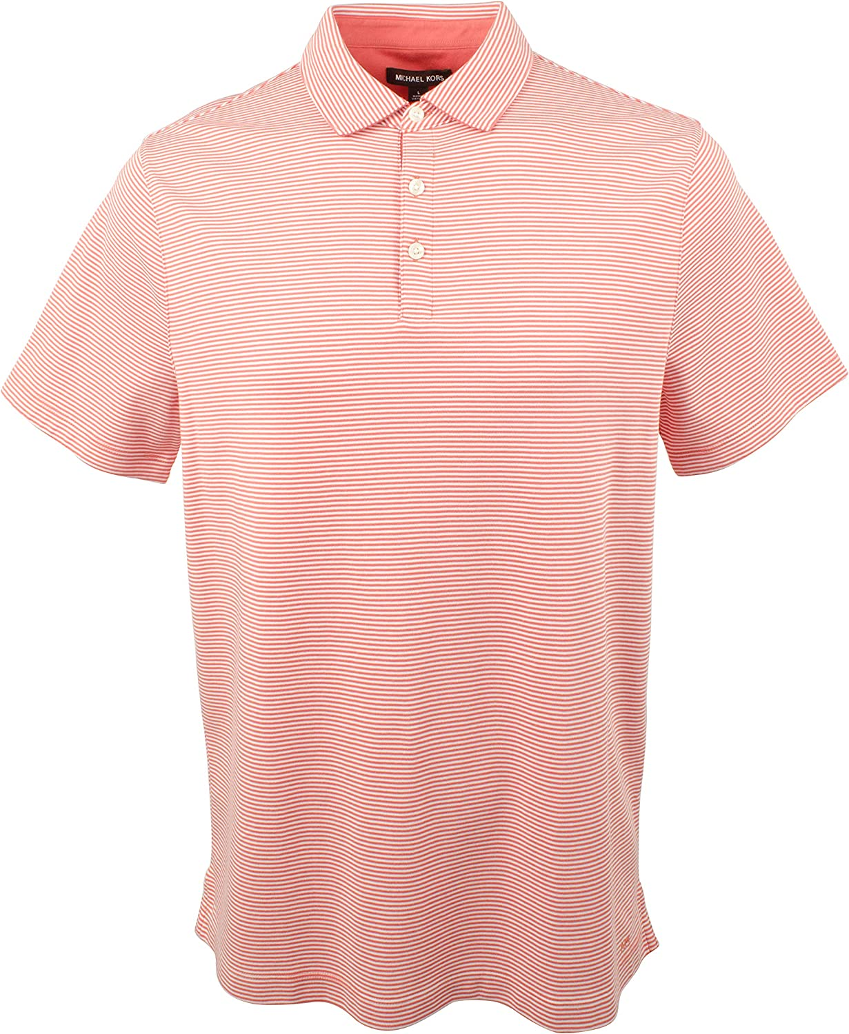 Michael Kors Mens Striped Cotton Polo Shirt-FC-M: Amazon.es: Ropa ...