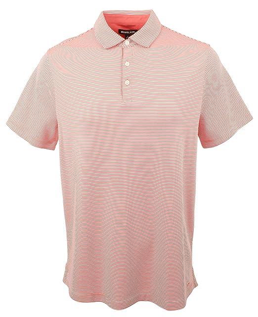Michael Kors Mens Striped Cotton Polo Shirt-FC-M: Amazon.es: Ropa ...