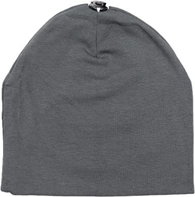 Maniere Unisex Baby Boy Girl Cotton Beanie Hat With Snap For Pompom -  Charcoal 55f05b8e41ba