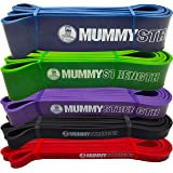 MummyStrength Pull Up Assist Band | Stretch Resistance Pull-up & Mobility Bands | Perfect For Pull-ups, Chin ups & Powerlifting. Works with Any Pullup Bar or Station. Digital How-To Guide. SINGLE BAND