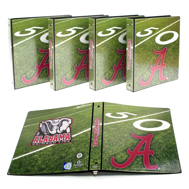 NCAA Alabama Crimson Tide 1'' College Round 3-Ring Binders, 4 pack