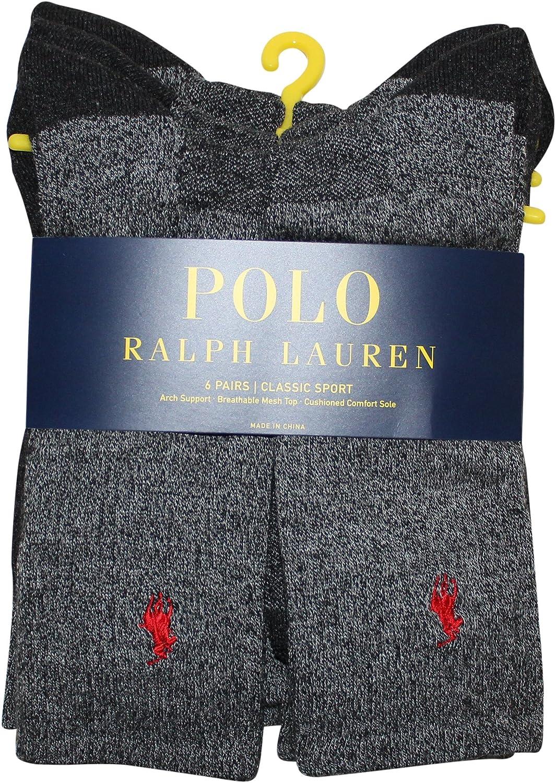 Polo Ralph Lauren Men's Classic Sport Crew Socks - 6 Pairs