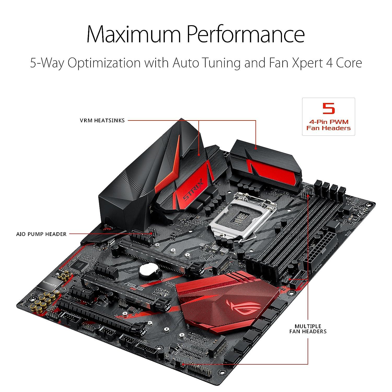 amazon com: asus rog strix z370-h gaming lga1151 ddr4 hdmi dvi m 2 z370 atx  motherboard with gigabit lan and usb 3 1 for 8th generation intel core