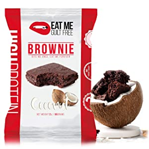 Eat Me Guilt Free High Protein Brownie, Low Carb Healthy Snack or Dessert (Coconut)