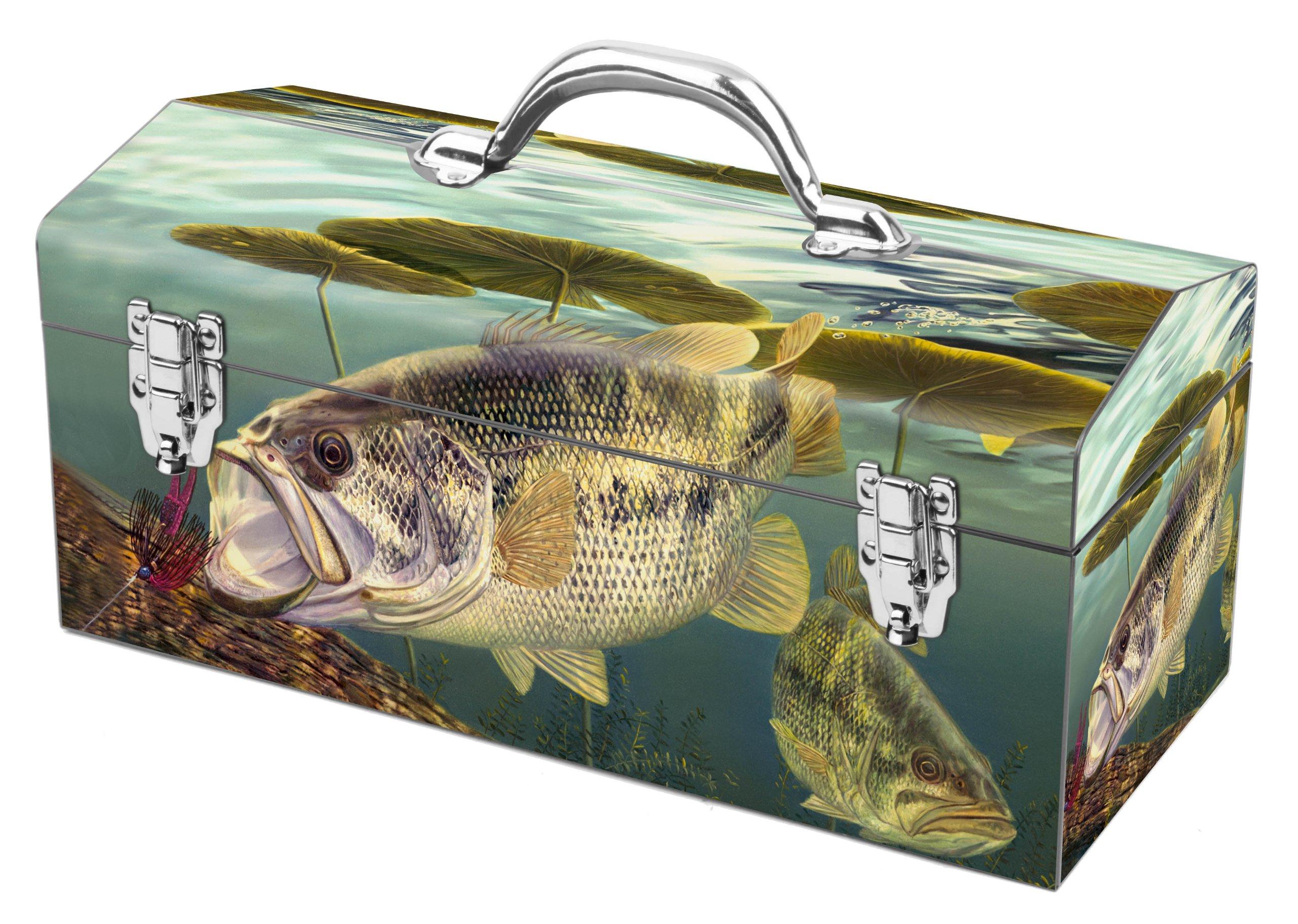 Sainty Art Works 24-701 A Pig, a Hog and a Log Art Deco Fishing Inspired Tool Box by Sainty Art Works