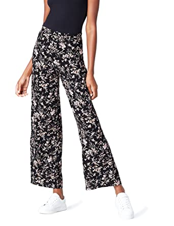 FIND Women's Wide Leg Floral Print Trouser Hard Wearing Pick A Best Largest Supplier 6nEd8