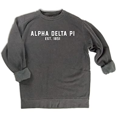 20e2cf4362 Alpha Delta Pi est. 1851 Sweatshirt Grey at Amazon Women s Clothing ...