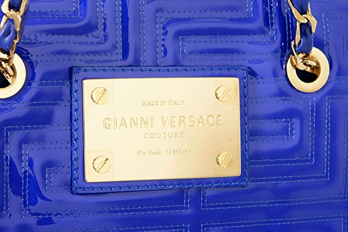 64ec967e5a48 Amazon.com  Gianni Versace Leather Purple Chained Strap Drops Women s  Handbag Shoulder Bag  Shoes