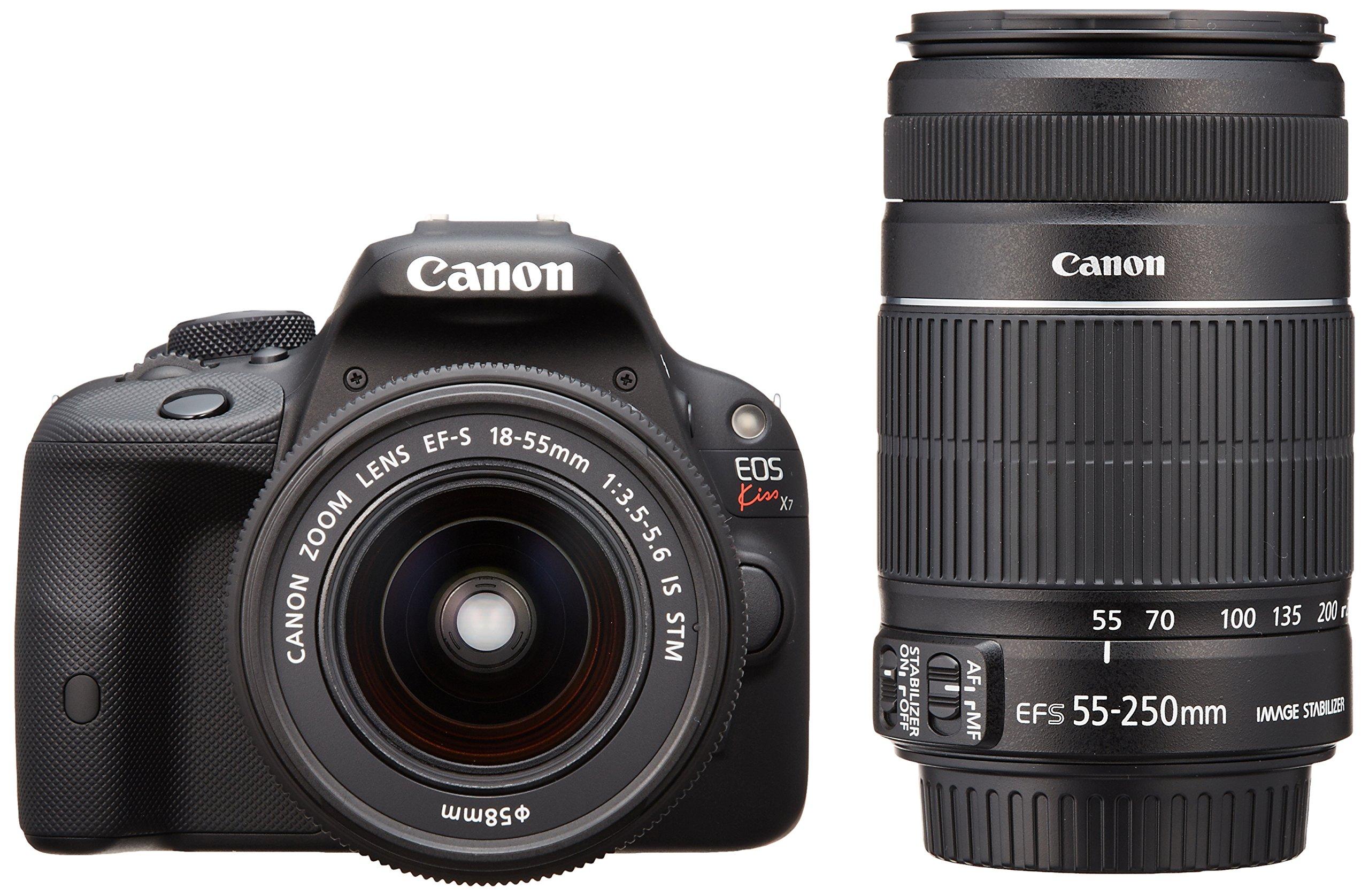 Canon デジタル一眼レフカメラ EOS Kiss X7 ダブルズームキット EF-S18-55mm/EF-S55-250mm付属 KISSX7-WKIT product image