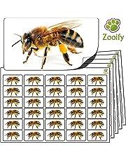 480 Pegatinas - abeja (38x21mm) Etiquetas de animales autoadhesivas de alta calidad de Zooify.
