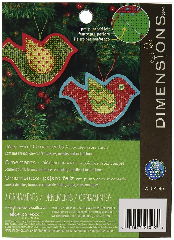 jolly christmas birds needlecraft tree ornament kit