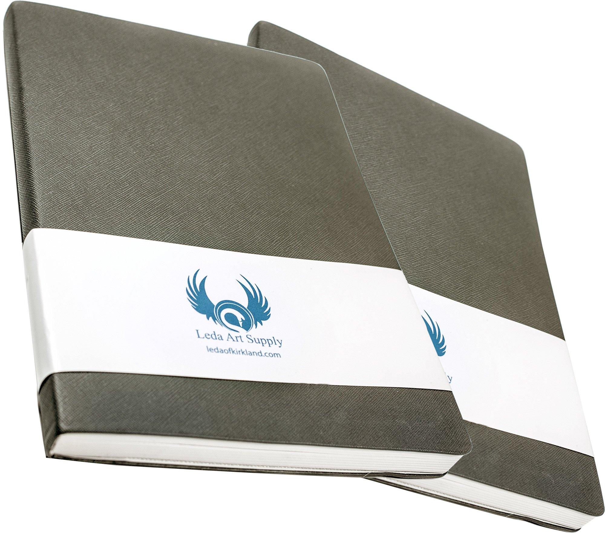 Leda Art Supply Large Sketchbook 2 Pack by Leda Art Supply
