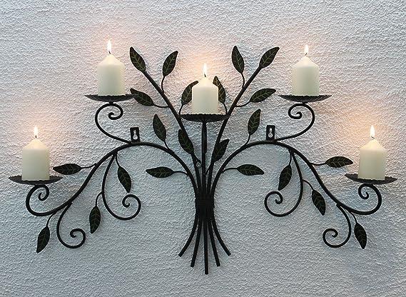 Support Bougie mural 1/Stk. hauteur 93/cm Bougie support de montage mural pour 4/bougies pilier murale de Bougeoir