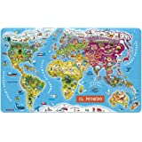 Janod - J05513 - Magnetic World Puzzle Italian Version