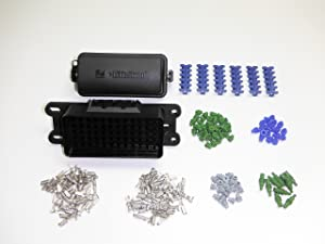 amazon com hella 005993131 waterproof fuse box 12 way spade diy waterproof fuse relay block panel car truck atv utv rv boat 4x4 marine