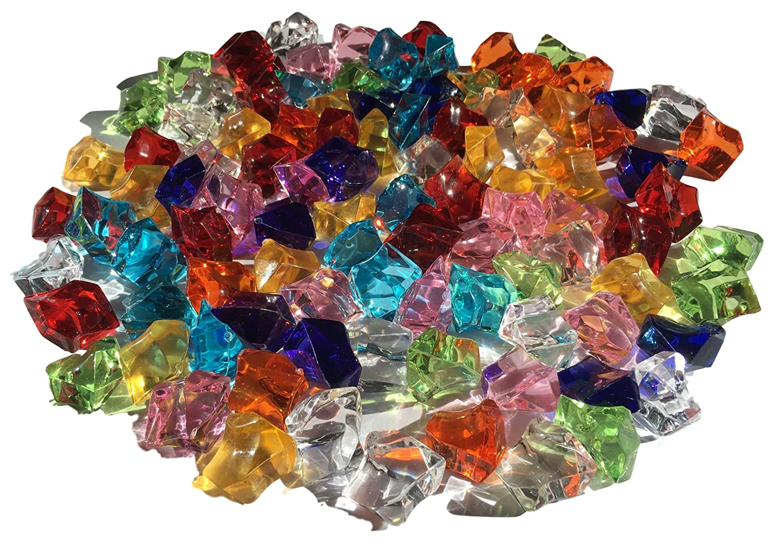 100 pieza 15 mm reluciente Multicolor Decoración Hielo Diamantes Brillantes brillantes acrílico Piedras Manualidades piedras decorativas gltzer brillantes cristales decorativos para decorar de Crystal King