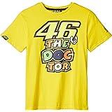 ヤマハ(YAMAHA) ロッシ VR46 Tシャツ 46BIG&ザ・ドクターロゴ イエロー Sサイズ Q5D-YSK-151-00W
