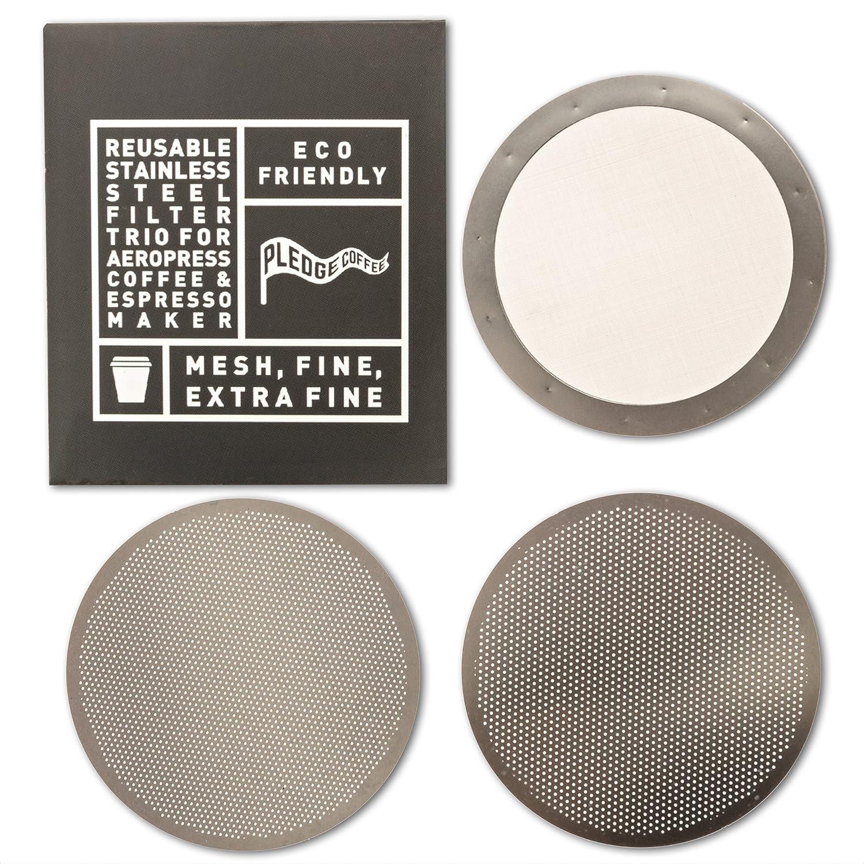 3 juego de filtros para AeroPress cafetera de acero ...