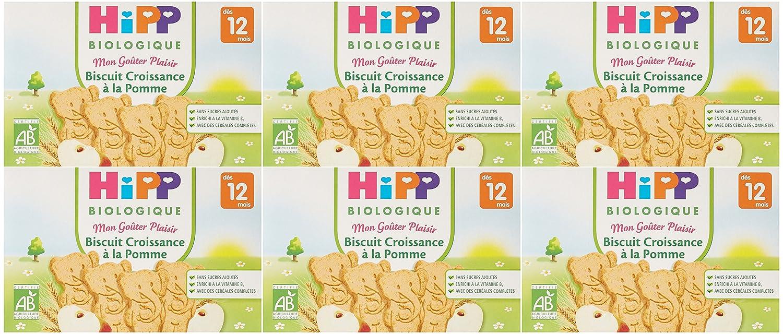 Hipp Biologique Biscuit Croissance à la Pomme dès 12 mois - 6 boîtes de 150 g 4062300055094