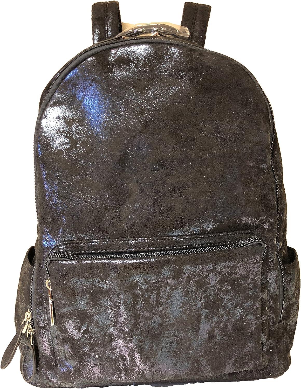 Bari Lynn Navy Metalic Shimmer Backpack