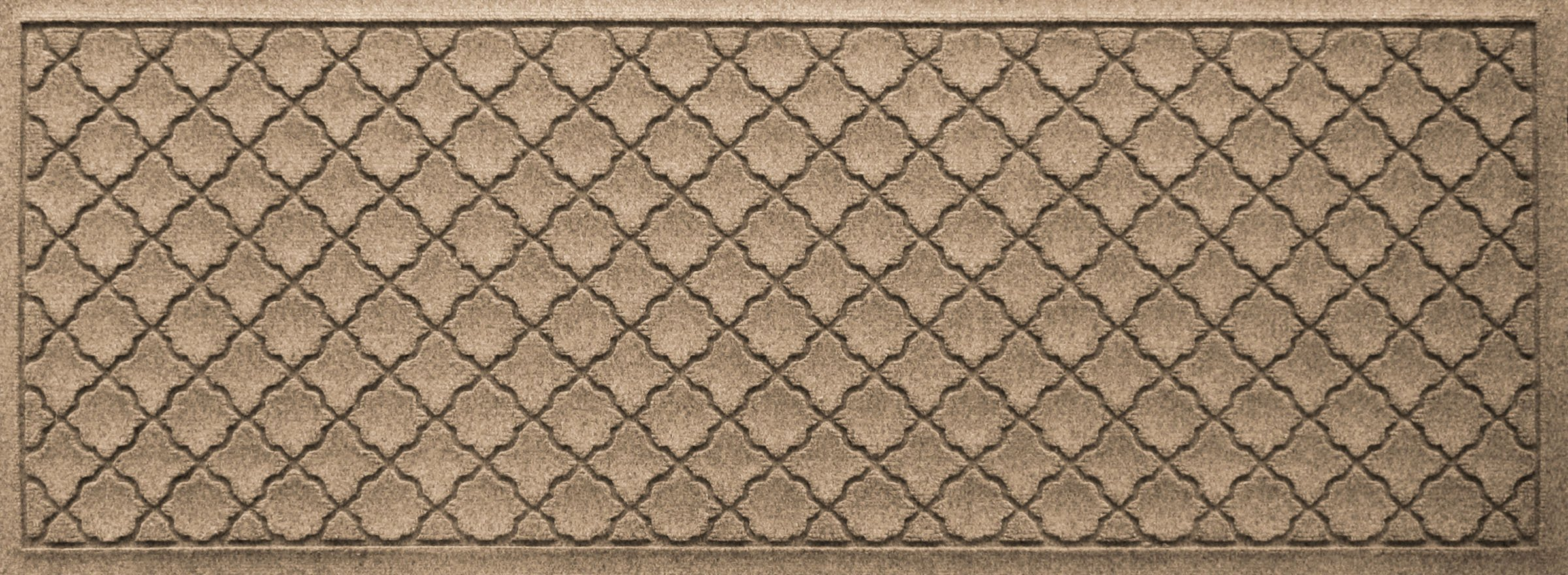 Bungalow Flooring Waterhog Indoor/Outdoor Runner Rug, 22'' x 60'', Skid Resistant, Easy to Clean, Catches Water and Debris, Cordova Collection, Khaki/Camel by Bungalow Flooring