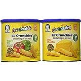Graduates lil' crunchies baked whole grain corn snack 4 Mild Cheddar 2 veggie dip (6 pack - 1.48 oz each can)