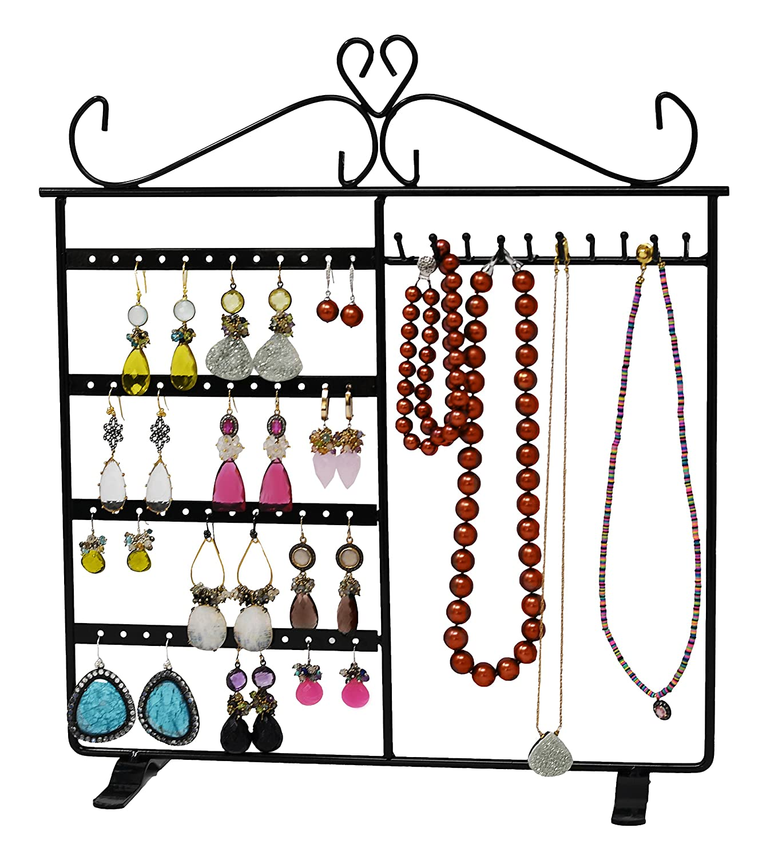 ARAD Jewelry Organizer, Earring Organizer, Jewelry Hanger, Jewelry Organizer Hanging Necklace, Necklace Holder, Bracelet Holder, Jewelry Holder, Jewelry Stand (Black) ARADTM LIL-KA-150 158 159