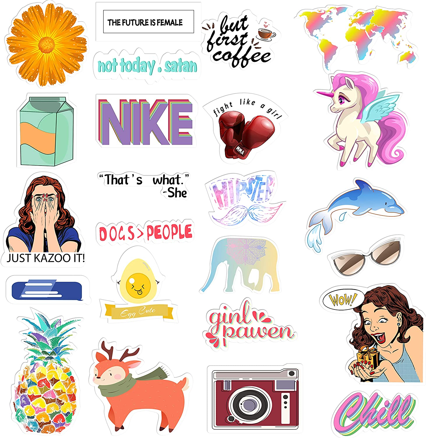 Weird Sticker Water Bottles and Cell Phones for Laptops