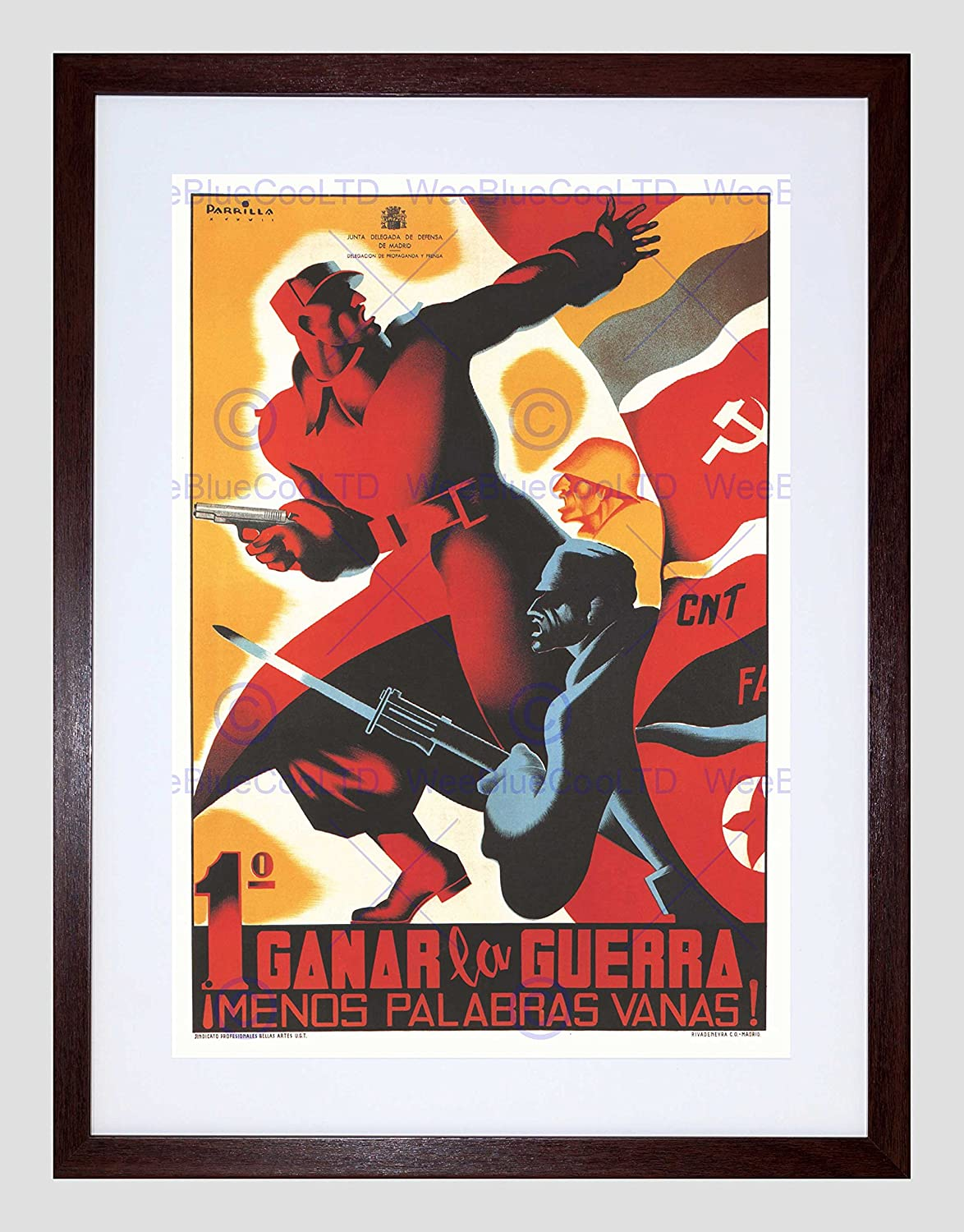 Amazon.com: WAR Spanish Civil CNT Communist Anti Fascist ...