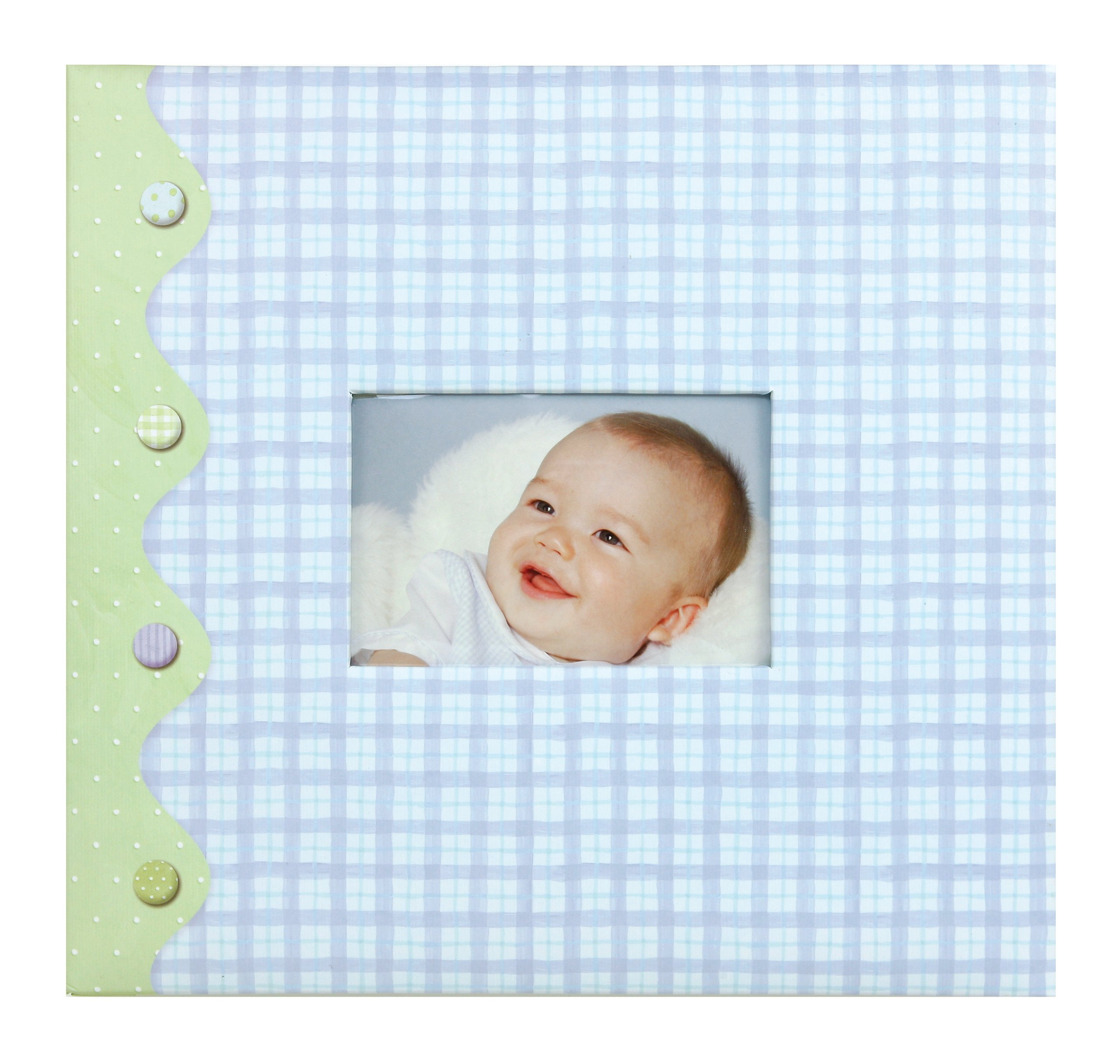C.R. Gibson Complete Scrapbook Kit, 20 Illustrated Pages and 10 Protective Page Sleeves, Measures 12'' x 12'' - Little Pond Baby Boy