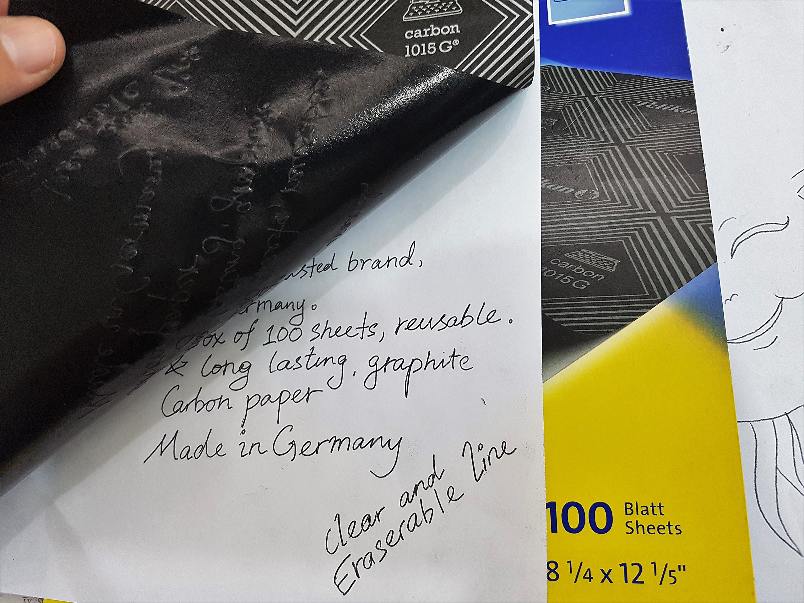 pelikan 100 sheets carbon transfer graphite tracing paper black