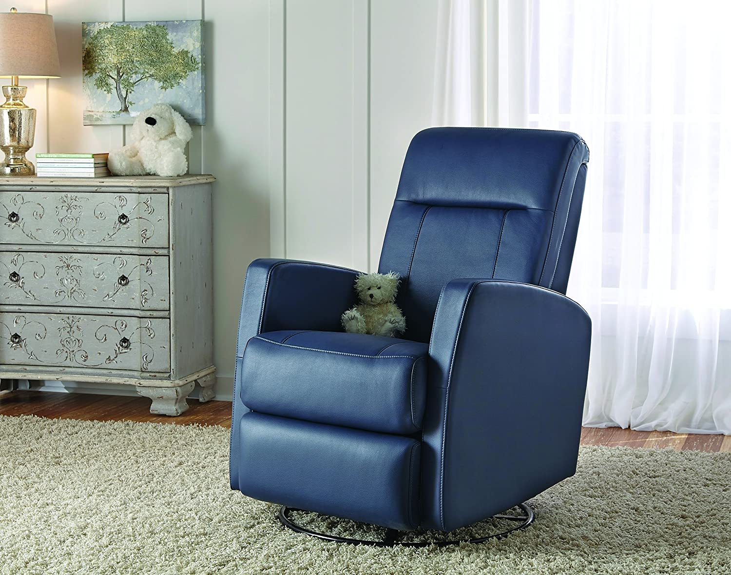 Beautiful Pulaski Harper Swivel Glider And Recliner, Grape Rehide