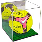 Deluxe Acrylic Full Size Collectible Soccer Ball Display Case with UV Protection