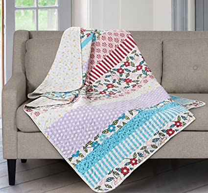 Amazon SLPR Summer Festival Printed Quilted Throw Blanket 40 Cool How To Make A Quilted Throw Blanket